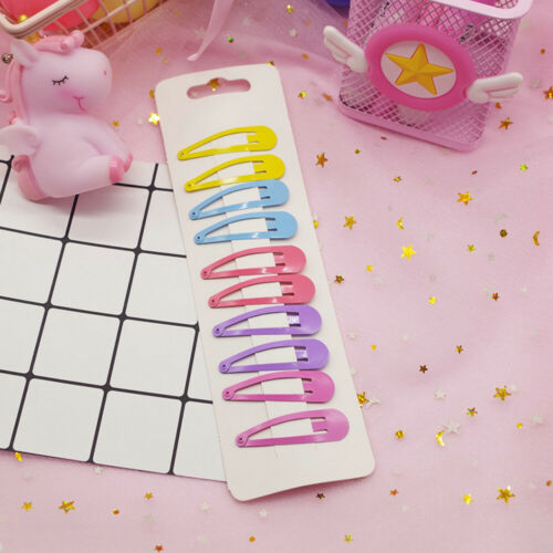 Acrylic Snap Hair Clips Hairpin Barrette Pins Baby Girl Hair Bows Candy Colors