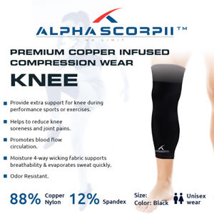 2156004099 Image is loading Premium-Pro-88-Copper-Infused-Compression-KNEE-Brace-