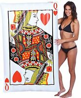 Queen Of Hearts Pool Raft 5ft Pool Float Playing Card Summer Outdoor Beach
