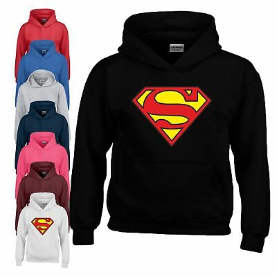 Superman Hoodie Dc Comics Hulk Superhero Logo Birthday Gift Christmas Kids Hoody Ebay