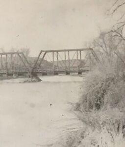 Postcard-Real-Photo-Bridge-River-Alberta-Canada-Vintage-P29