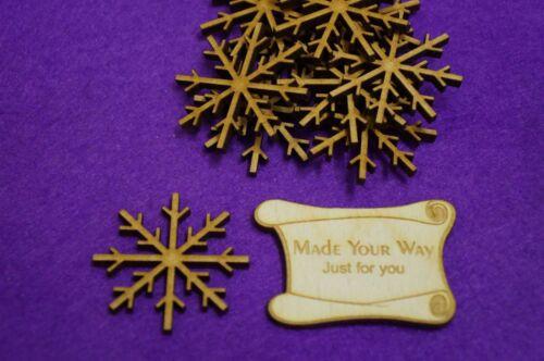 Laser cut wooden shape MDF Snowflake B 3cm 4cm