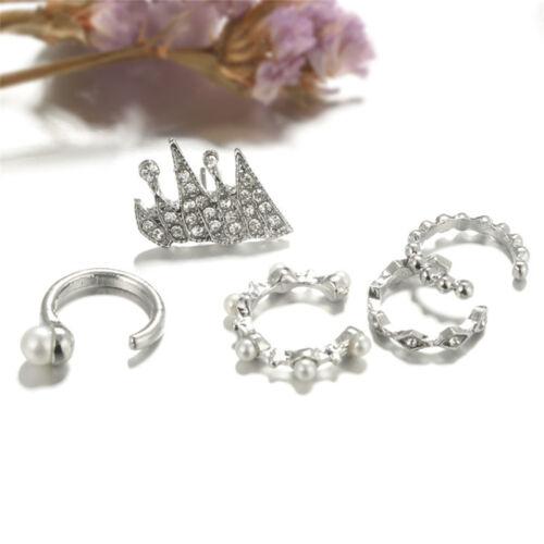 9PCS//Set Ear Clip Earrings Bohemia Ear Cuff Stud Crystal Ear Earrings JewelryM/&C