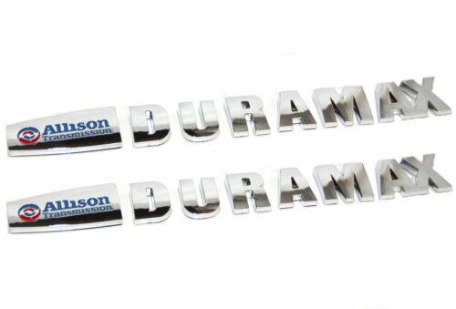 2pcs OEM ALLISON DURAMAX EMBLEMS for GM 2015 SILVERADO 2500HD 3500HD Chrome u FU