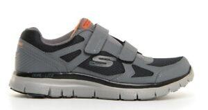 SKECHERS-58365-FLEX-ADVANTAGE-ESTELLO-Memory-scarpe-uomo-sportive-sneakers-pelle