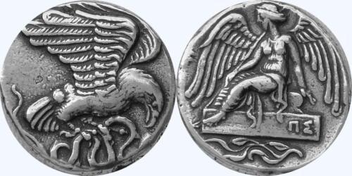 Nike /& Eagle Goddess of Victory Very Fast runner Greek Coin Greek Mythology 9-S