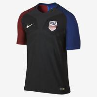 Nike 2016 U.s. Match Away Men's Soccer Jersey 743672 010 Black Size S