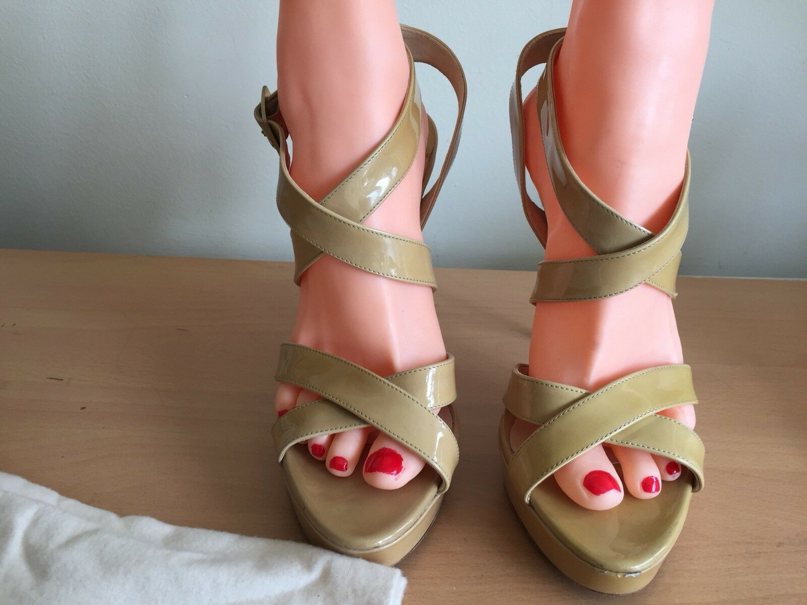 Jimmy Choo 40, Uk 7 Nude Vamp Sandals, As As As Seen On  Fab 05d4a8