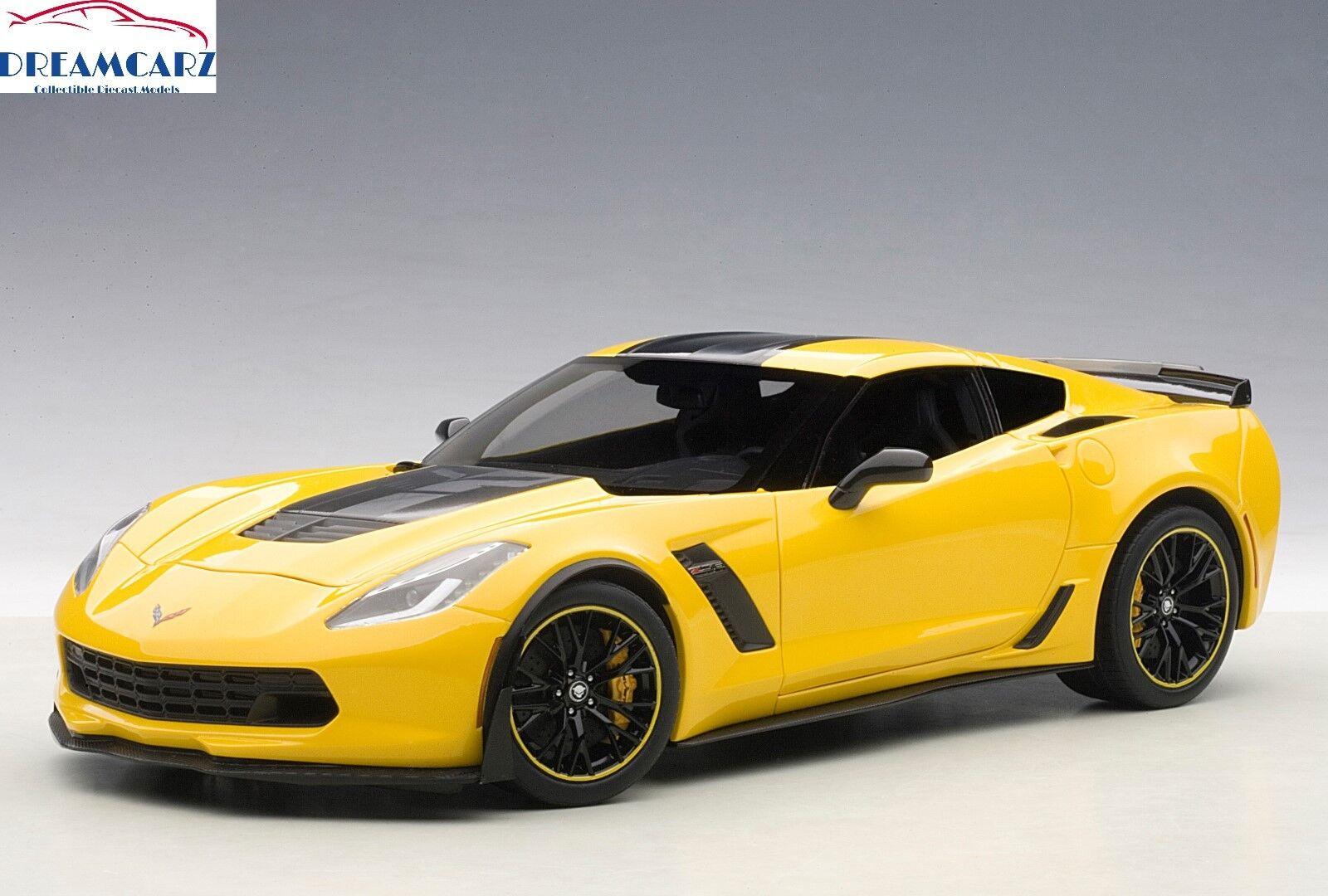 bilAR 71260 1 18 Chevrolet Corvette C7 Z06 C7R Edition - tävlings gul