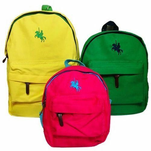 Children Backpacks Boys Girls Kindergarten Polo Canvas Small Baby Bags Toddler