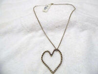 Lucky Brand Gold Heart Charm Necklace