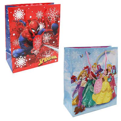 Christmas Present Gift Bag with Tag Choose Design /& Size