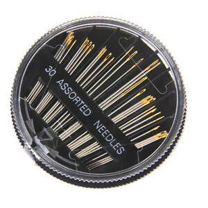 30PCS-Craft-Quilt-Sew-Case-Assorted-Hand-Sewing-Needles-Embroidery-Mending-Tools