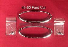 1949 1950 49 50 Ford Shoebox Chrome Tail Light Bezel Kit