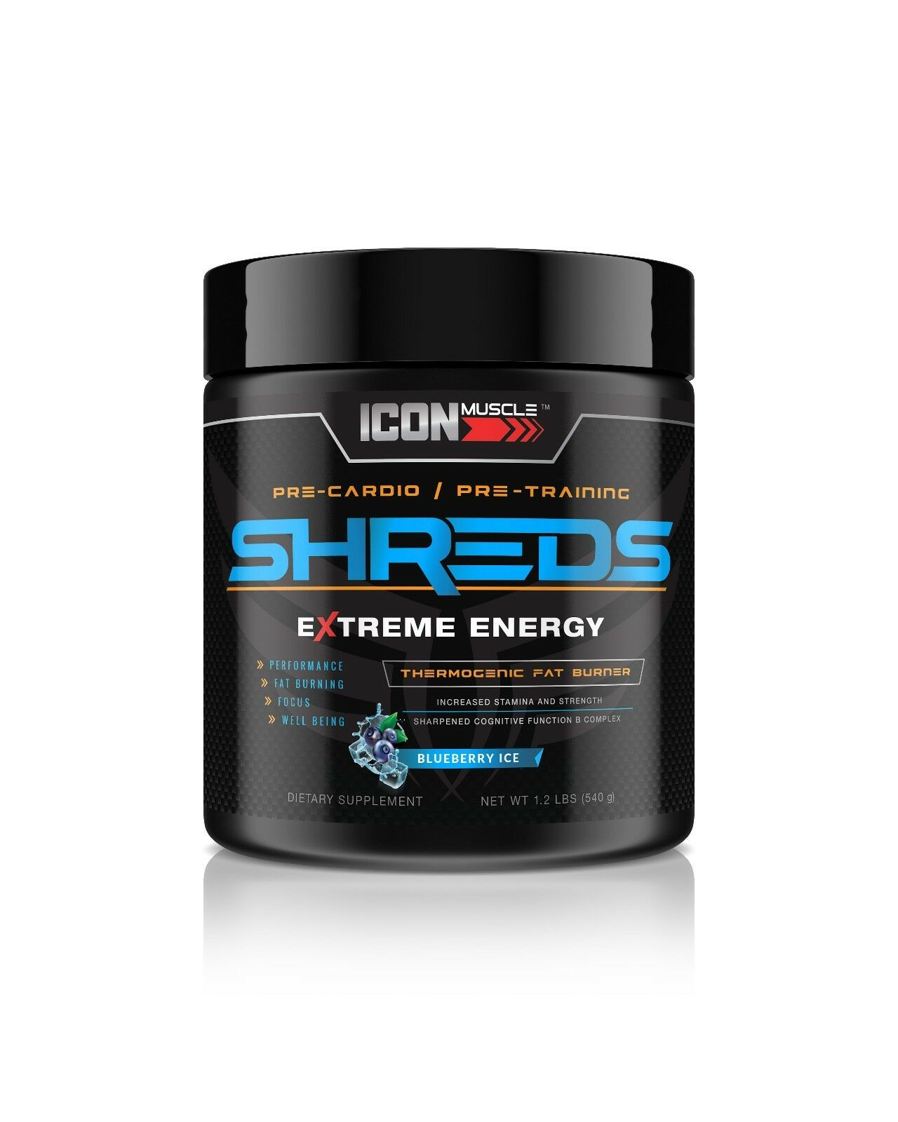 ShROTs Pre-workout Icon Muscle Pre Pre Pre Workout Energy-Blauberry Ice 6bf2fb