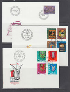 Switzerland Sc B479-B512 FDC.1981-84 semi postals 9 cplt sets on 9 FDCs, VF