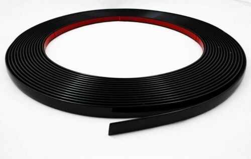 Schwarz Zierleiste 10 mm  3 m Neu selbstklebend universal Auto schwarzleiste PKW