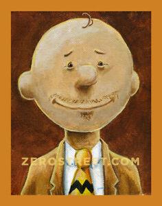 Mr-Brown-Lowbrow-Pop-Art-Artist-Print-The-Peanuts-Charlie-Brown-Parody