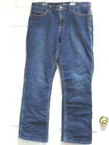 CARHARTT-Women-039-s-Relaxed-Fit-Lined-Stretch-Blue-Jeans-Size-14-Regular-EUC