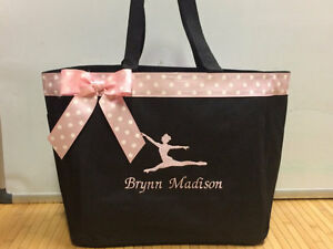 Image Is Loading Personalized Baby Diaper Bag Tote Monogrammed Dancer Gymnastics
