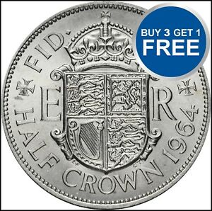 Demi-couronne 99p Elizabeth choisir votre date 1953-1967 FREE P&P