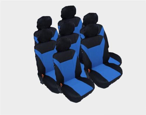 7x escaños fundas para asientos ya referencias azul negra para Ford Galaxy 1995-2006 VP