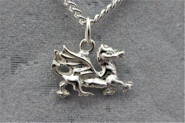 """Sterling Silver (925)  Solid 3D Charm """"Dragon"""""""