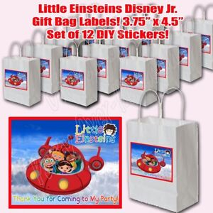 PJ MASKS Party Favor Boxes Thank you Decals Stickers Loots Party Kids 12PC Gekko