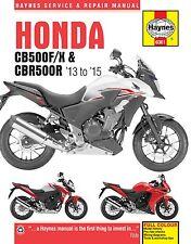 Honda CB500 CB500F CB500X CBR500R 2013 - 2015 manual de Haynes 6301