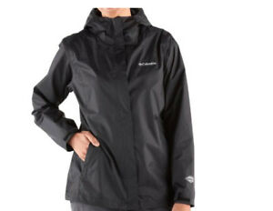 NWT-COLUMBIA-WOMEN-039-S-ARCADIA-II-RAIN-JACKET-BLACK-PLUS-SIZE-1X-2X-3X