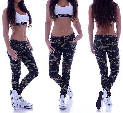 Damen Skinny Röhrenjeans Camouflage Army Röhren Jeans Hose Hüftjeans D17 Durch Wissenschaftlichen Prozess