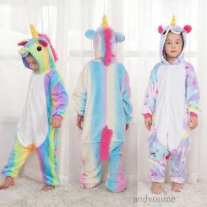 kind einhorn pyjamas kost m jumpsuit tier schlafanzug. Black Bedroom Furniture Sets. Home Design Ideas