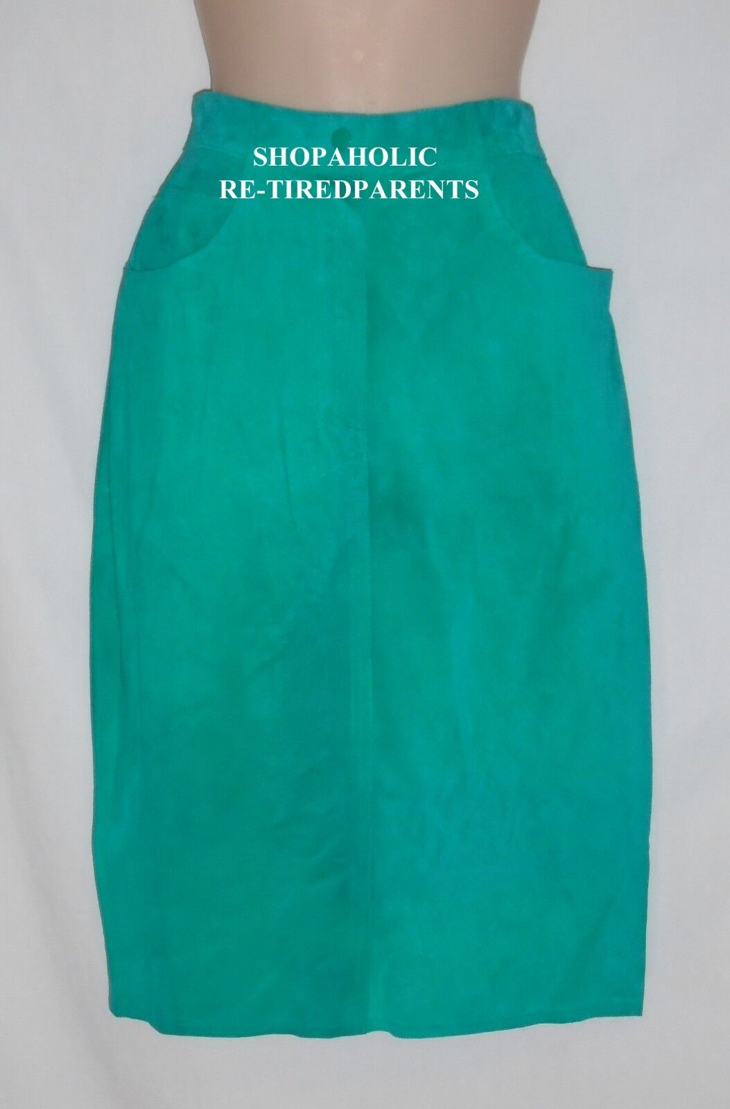 PIA RUCCI – SKIRT – GENUINE SUEDE LEATHER – GREEN – LINED - SIZE 12 - NWT  160