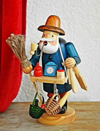 ❀ Räuchermännchen Hausierer mit Bauchladen Marktverkäufer 20cm Krämer #176