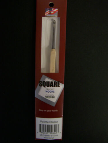 "Kollage Square Crochet Hook 6/"" choice size//style"