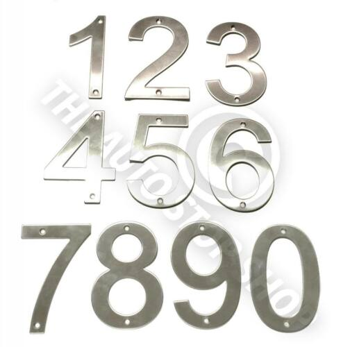 Stainless Steel House Numbers No 730 SCREW on house Door Building 10cm