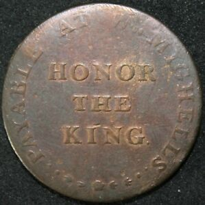 1796-Sussex-Brighton-039-Honor-The-King-039-Half-Penny-Token-Tokens-KM-Coins