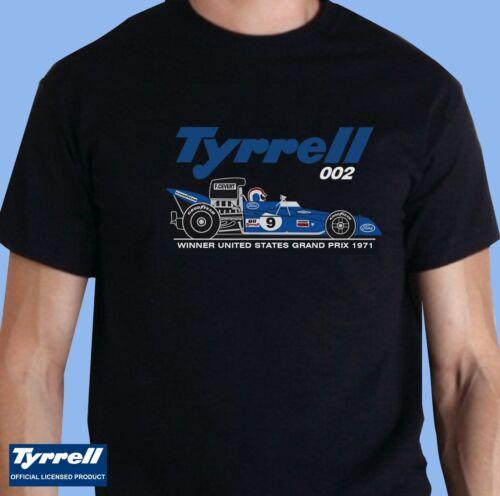 C002 Cevert Officially Licensed Retro Tyrrell 002 Grand Prix Car T-Shirt