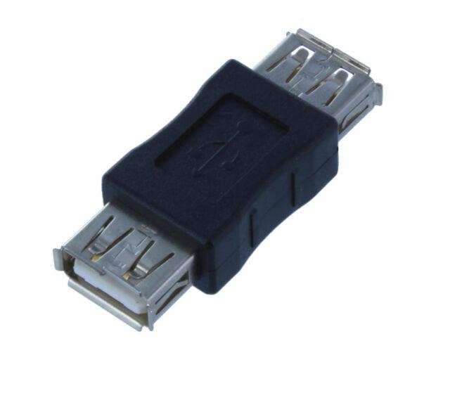 2 Pack Lot USB A Female to USB A Female Coupler Adapter (AUA22-2PK)