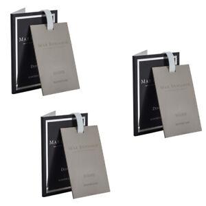 3x Max Benjamin Scented/Fragracne Card for Bag/Wardrobe/Drawer/Car Dodici