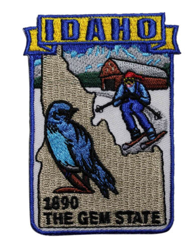 State Of Idaho Embroidered Iron On Patch Travel Souvenir The Gem State 219-K