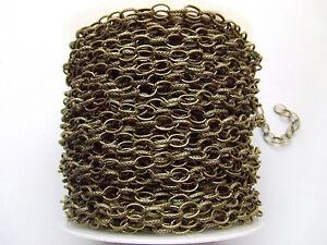 1mt di CATENA anelli rimagliabili ovale 6x8mm colore bronzo