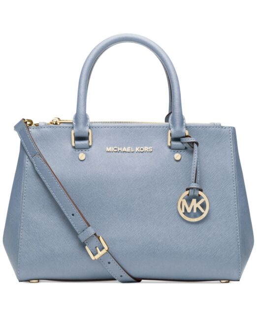 Michael Kors Sutton Small Satchel Pale Blue Saffiano Leather Dust Bag