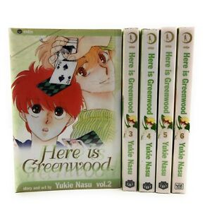 Here-is-Greenwood-Viz-Shojo-Manga-Graphic-Novels-Vol-2-6-Lot-of-5