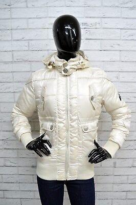 Giubbino Datch Donna Taglia Size L Giubbotto Imbottito Jacket Woman Bianco