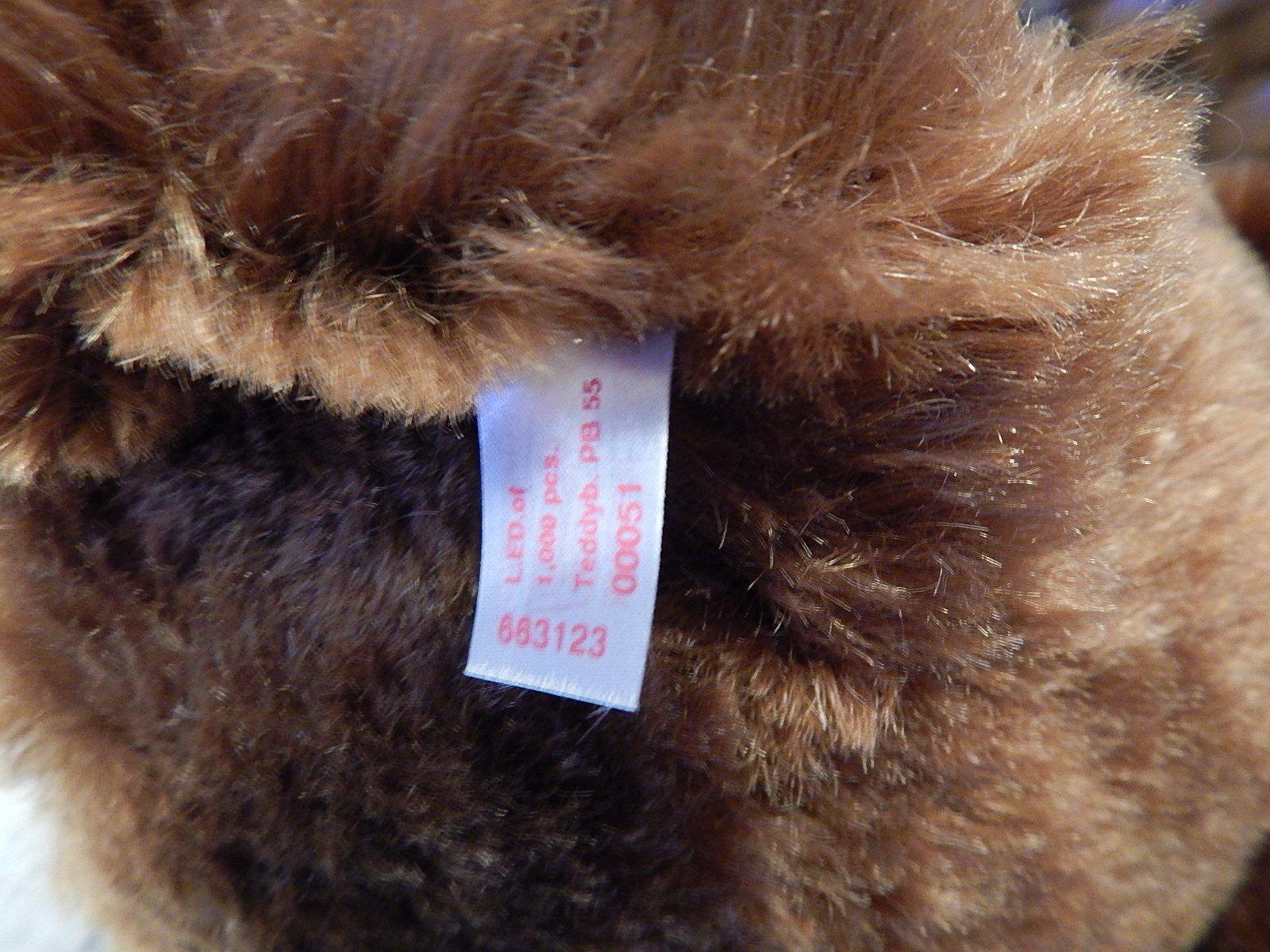 Steiff Rare 1902 Replica Ltd Ltd Ltd Ed Bear PB 55 Exclusive Edition Of 1000 only 55cm bee67d