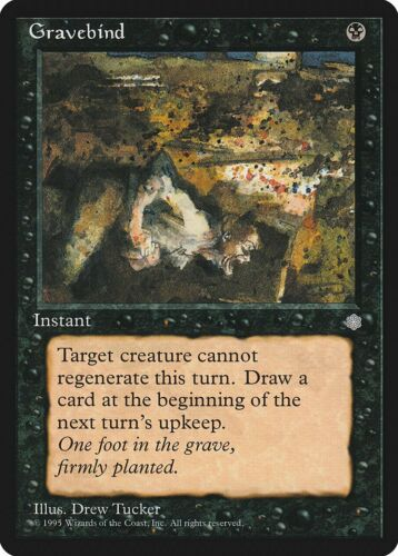 Gravebind Ice Age NM Black Rare MAGIC THE GATHERING MTG CARD ABUGames