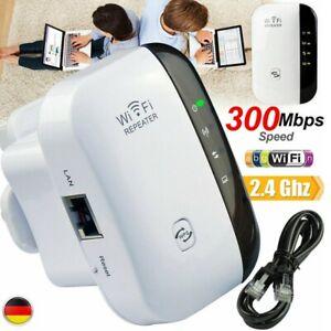 WLAN-Repeater-EU-300-Mbit-s-WLAN-Signal-Verstaerker-Access-Point-Wifi-Booster-DHL