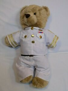 Aeropostale-Plush-Teddy-in-Navy-White-Uniform-Build-a-Bear-Sailor-Military-LOT