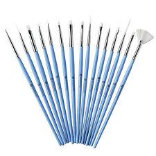 Winstonia 15pc Nail Art Brush Pen Kit SOMETHING BLUE Tool Set Acrylic Design